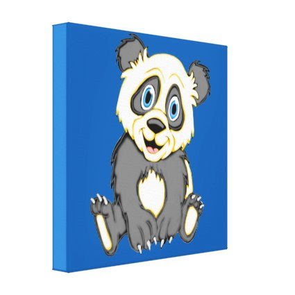 Smiling Panda 24 x 24 Canvas Print