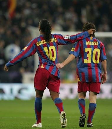 Ronaldinho & Leo Messi - TOP 10 Goals for FC Barcelona