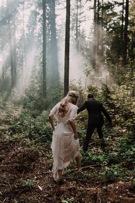 An Elegant, Enchanted Forest Wedding Theme Palette