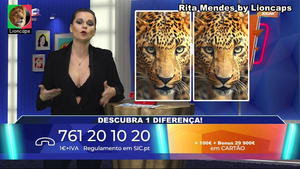 Rita Mendes sensual no programa Vamos Jogar