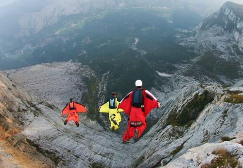 Italia Wingsuit Base Jump