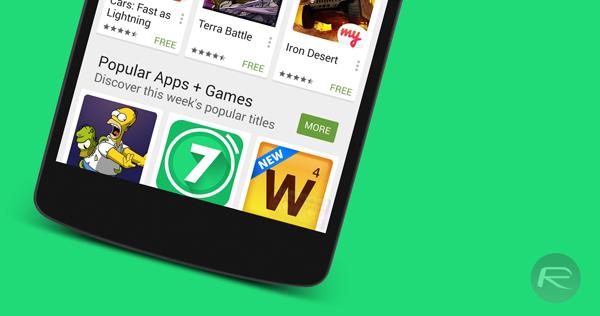 Play Store 5 nexus