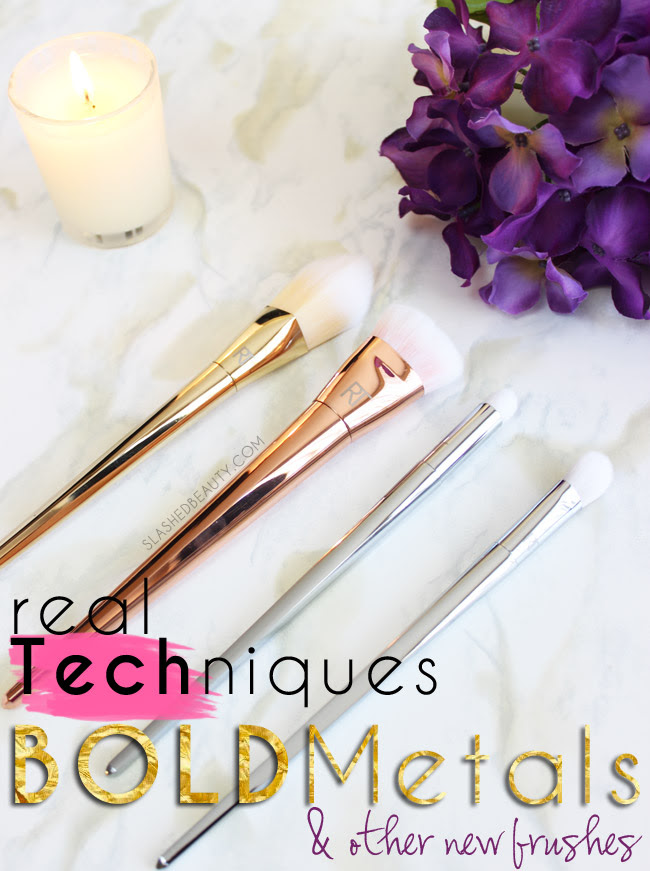 Real Techniques Bold Metals & Other New Brushes | Slashed Beauty