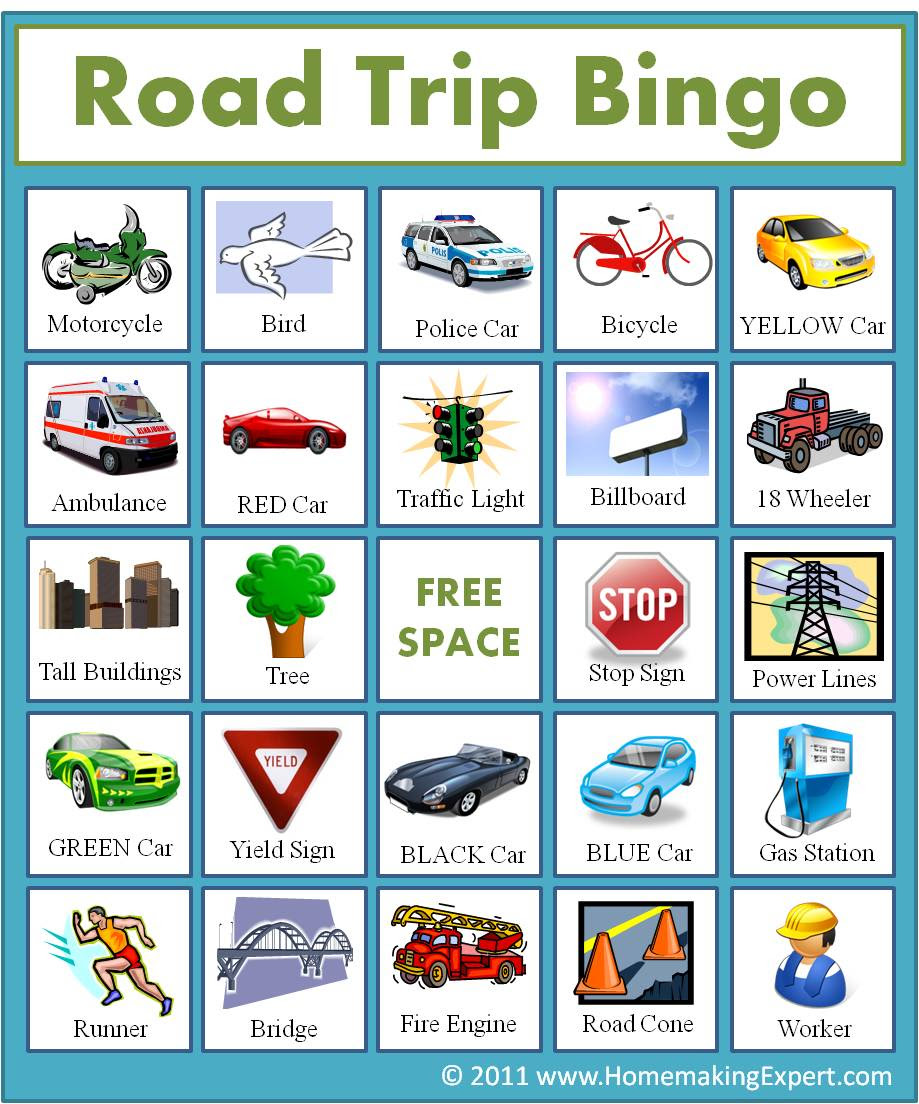 Printable auto bingo