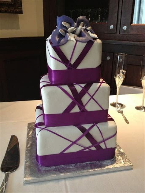 600x600 1395708231015 purple ribbon wedding cake purple