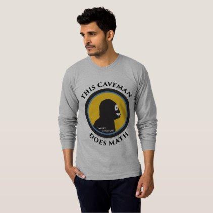 American Apparel Long Sleeve: Math Smart Caveman T-Shirt
