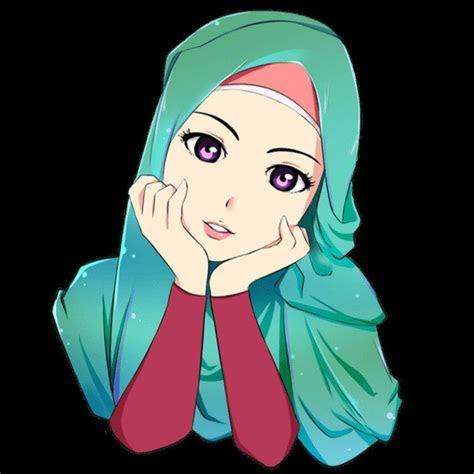 anime berhijab bercadar gambar kartun muslimah bercadar