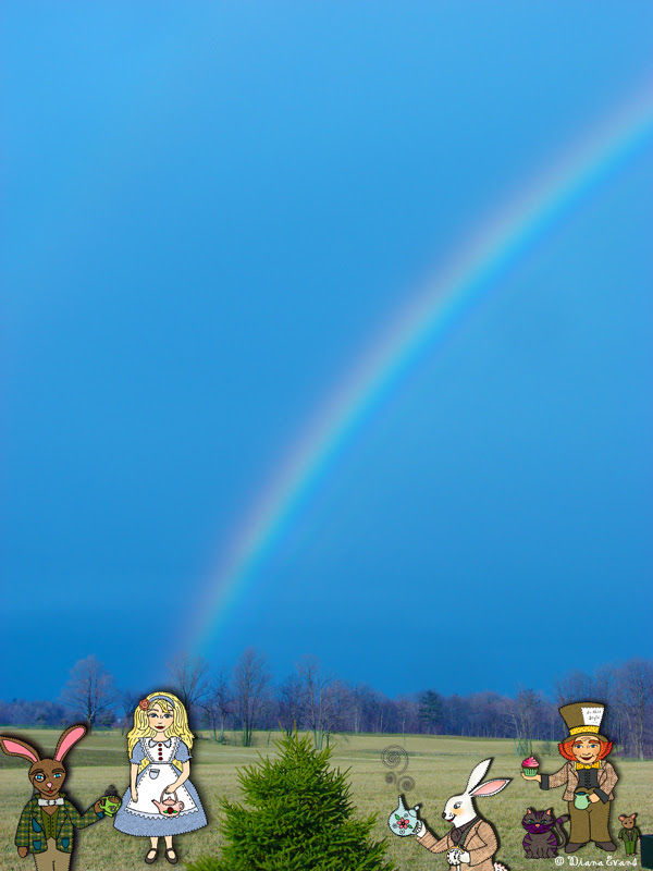 backyard guests and a rainbow2