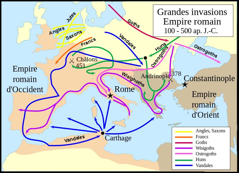 Fichier:Grandes invasions Empire romain-fr.svg