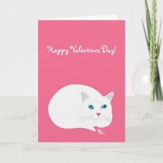 Cuddle Cat Valentine's Day Card