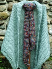 English Garden Shawl & Scarf Knit Pattern - Electronic Download