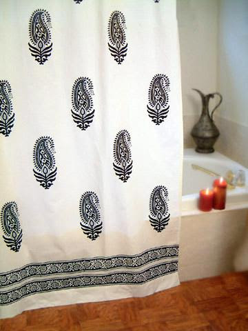 Black and white Paisley print Bedding, Duvet, Table cloths, Shower ...
