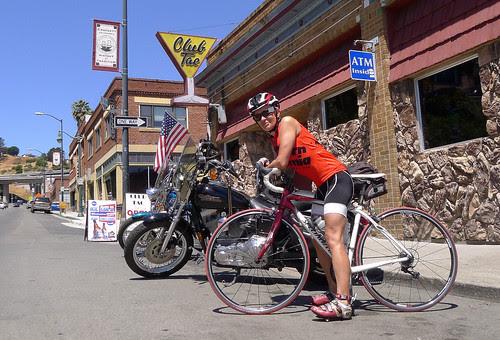Biker Chick, Slow Poke ride two bridges