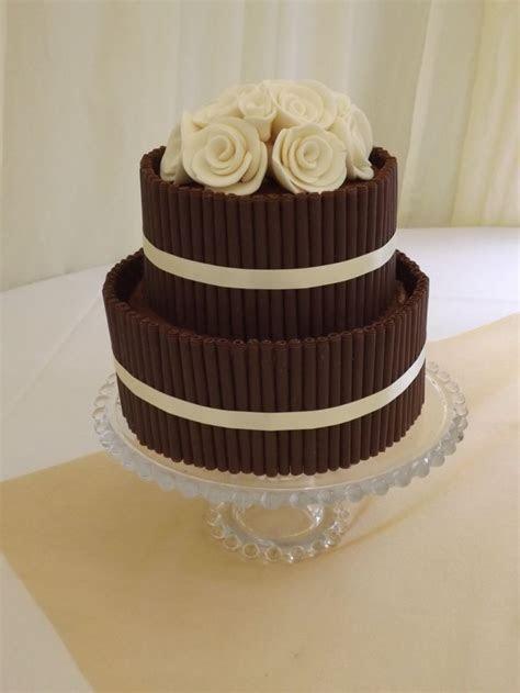 Chocolate cigarillo cake   Two tier chocolate cigarillo