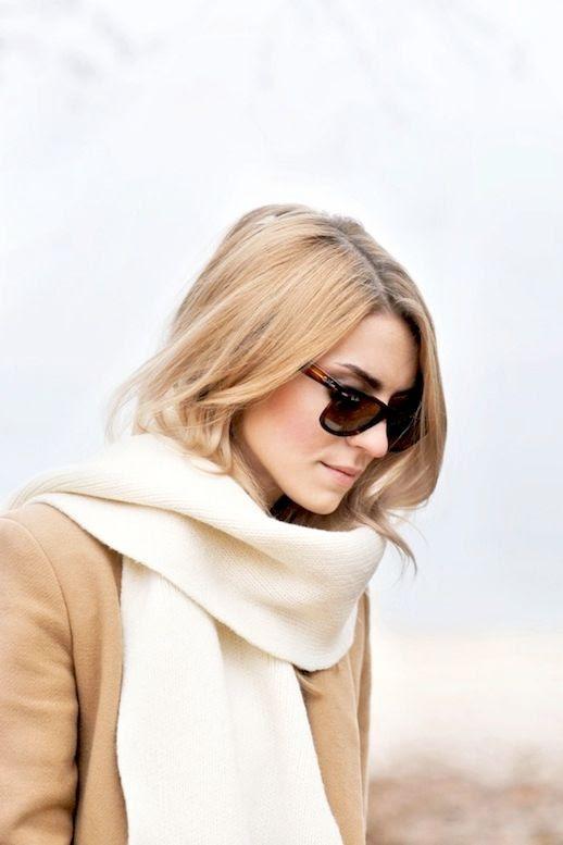 Le Fashion Blog Tortoise Sunglasses Cream Knitted Scarf Camel Coat Winter Blogger Style Via Make Life Easier