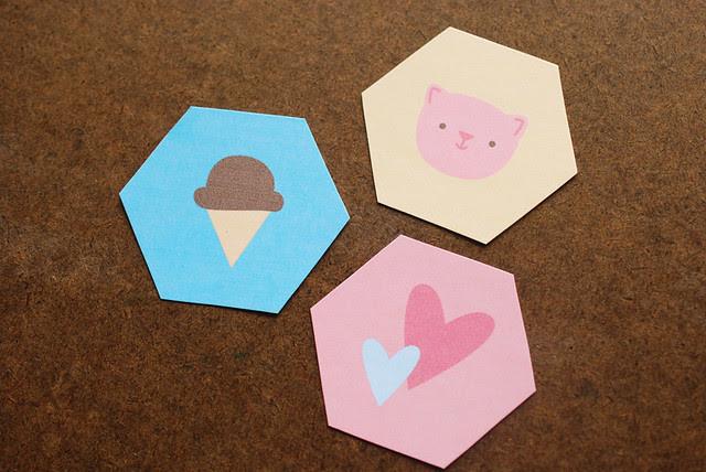 Printable Hexagon Cuties