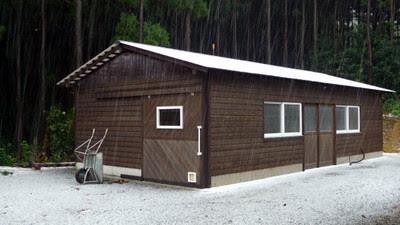 木工小屋完成