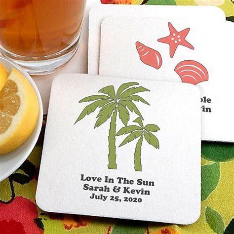 Drink Coasters   Round Paper Custom Printed   Wedding Coasters