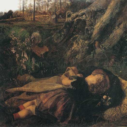 Arthur Hughes, The Woodman's Child