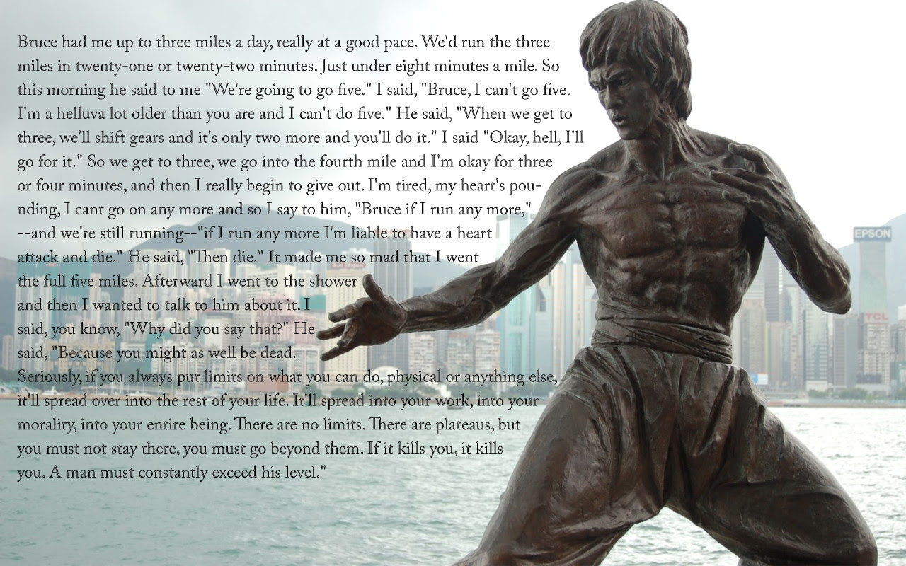 Exceeding Your Limits Wise Words From Bruce Lee Zenthusiasm