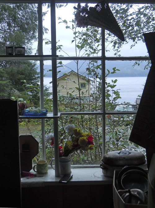 window view, Kasaan, Alaska