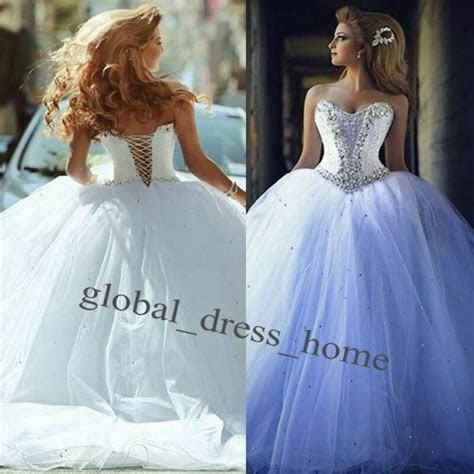Luxury Crystals Corset Ball Gown Wedding Dresses Bridal