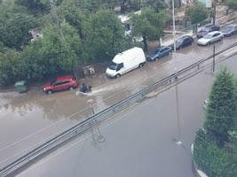 Τμήμα της οδού Αμαρουσίου-Χαλανδρίου στο Μαρούσι, που έχει πλημμυρίσει