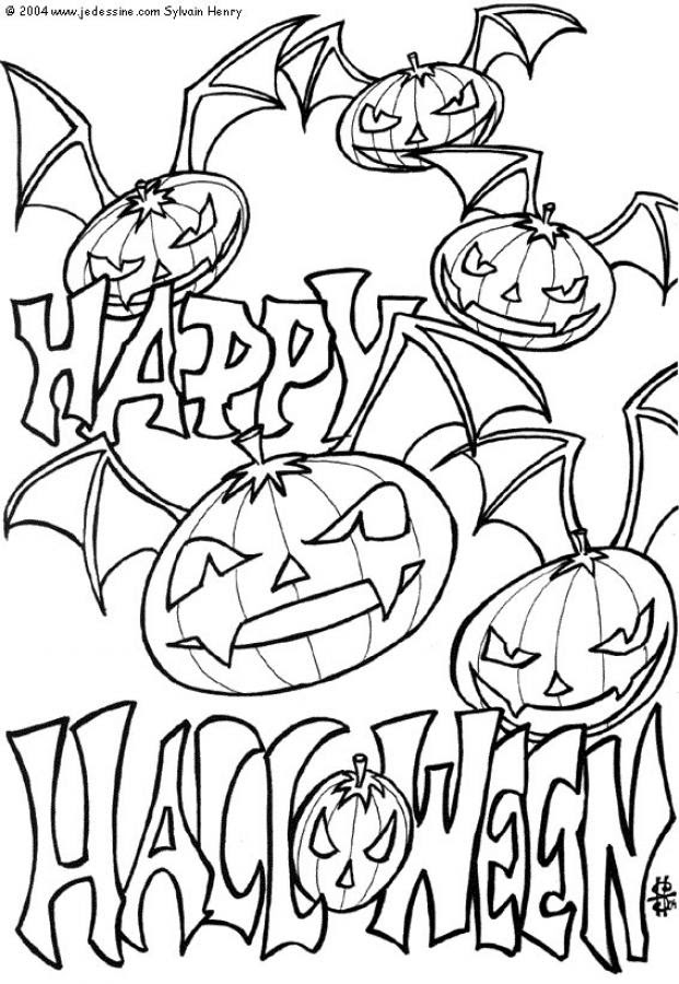 Coloriages Citrouilles Halloween 30 Coloriages Dhalloween