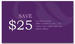 CPS-1017 - salon coupon card