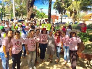 Mulheres de várias regiões participaram da ação (Foto: Geovana Porcino/Arquivo pessoal)