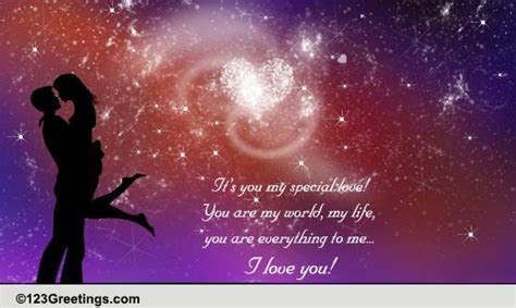 It's You My Special Love  Free You are Special eCards