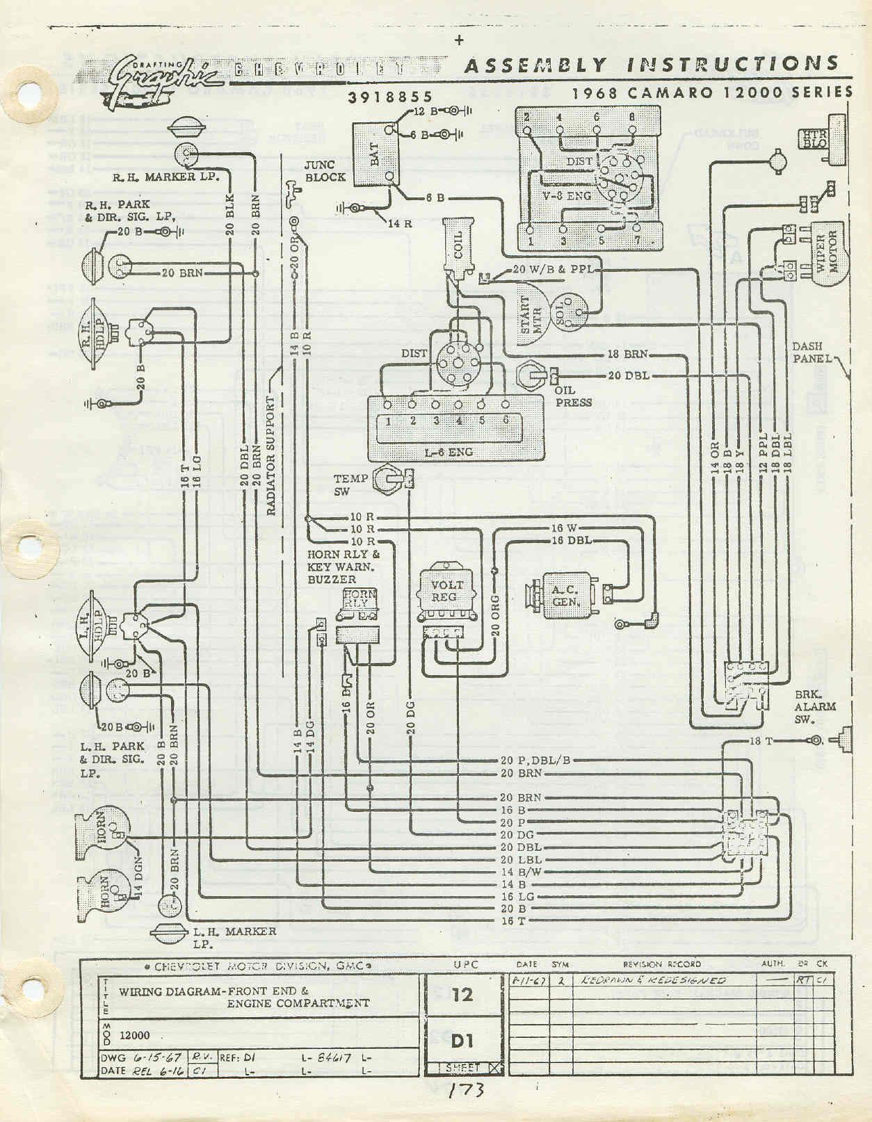 1968 camaro wiring harness diagram image 3