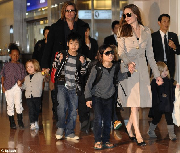 Family matters: Angelina said her six children are one of the main reasons she decided to have the surgery