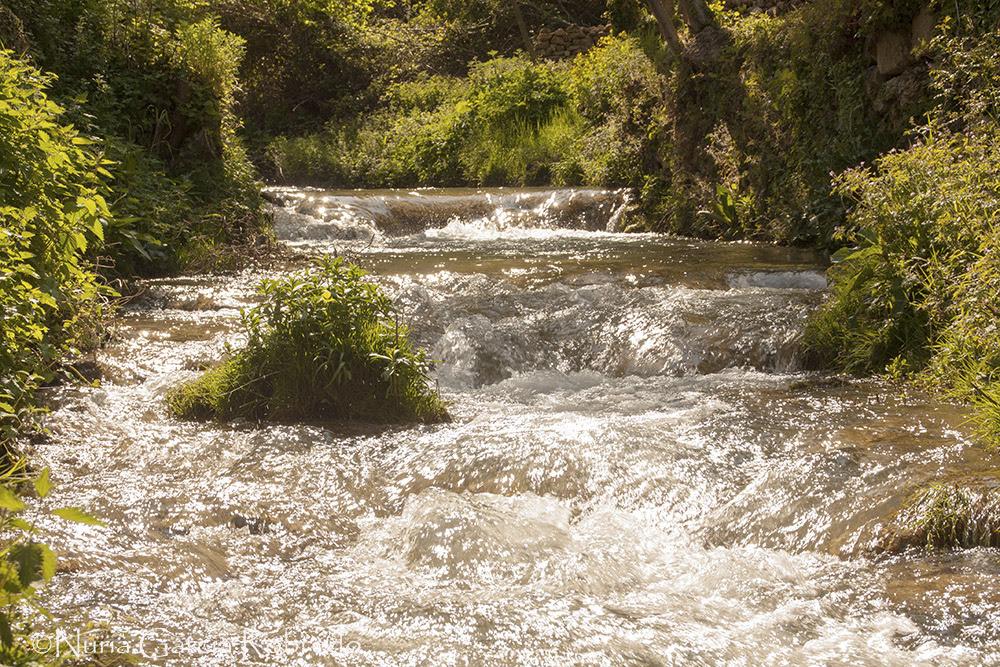 El río bajando a toda velocidad