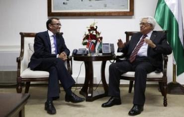 Espen Barth Eide meet with PA President Abbas August 27, 2013.