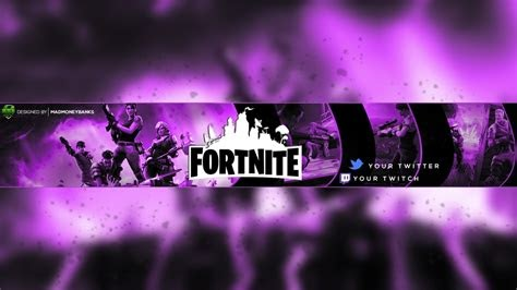 Bannière Youtube 2560x1440 Fortnite