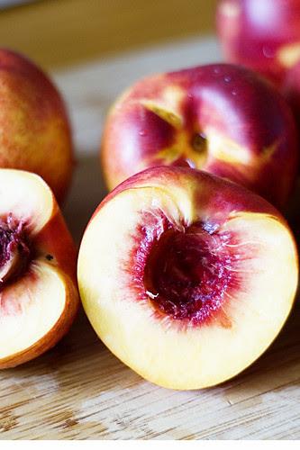 nectarine tart - nectarines