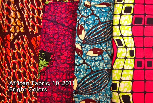 African Fabric, 10-2011 Bright Colors