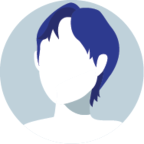 Icon of a faceless man with short hair
