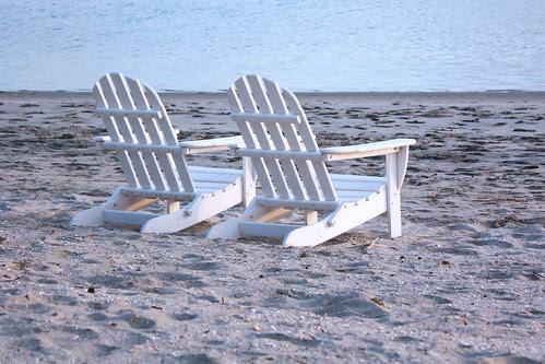 beach chairs on the beach in san diego