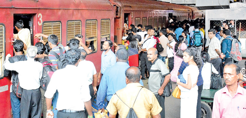 Trains began running from the Fort railway station with the end of the trade union action that crippled services for the past six days. A scene at the Fort station captured by our photographer Sarath Peiris.