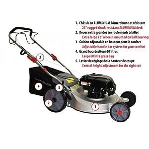 tondeuse lawnboss 755xl2 autotract e essence en aluminium mulching moteur briggs et. Black Bedroom Furniture Sets. Home Design Ideas