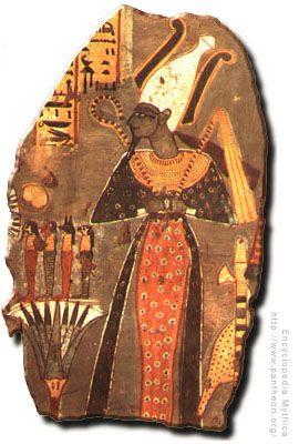 Osiris    The Egyptian god of the underworld and of vegetation.