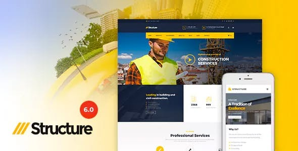 Structure v6.2.1 - Construction WordPress Theme
