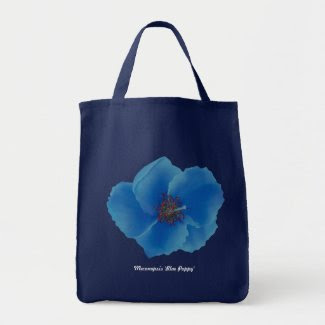 Blue Poppy Tote Tote Bags