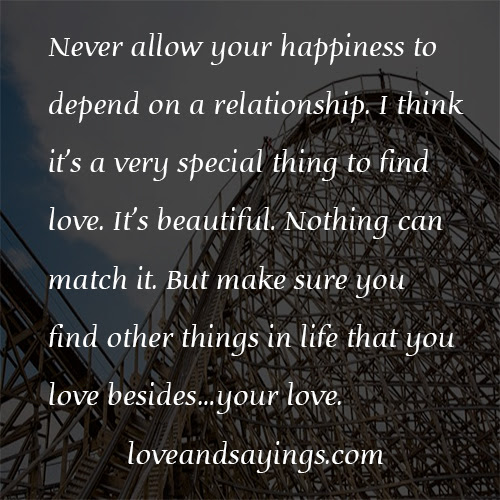 Quotes About Not Depending On Others Happiness