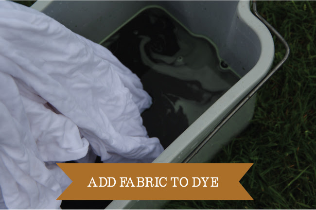 Dyeing - add fabric to dye