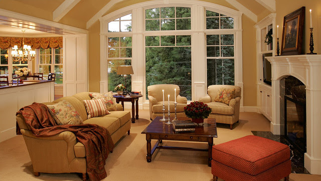 New Home Construction Cottage Style - Traditional - Living ...