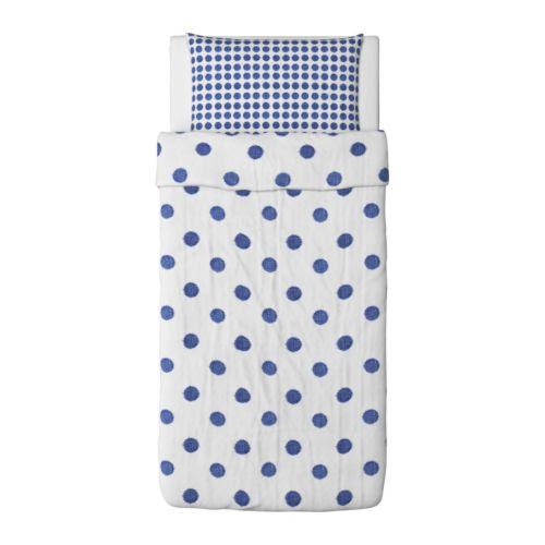 HENNY CIRKEL Duvet cover and pillowcase(s) white, gray-blue Duvet cover length: 86