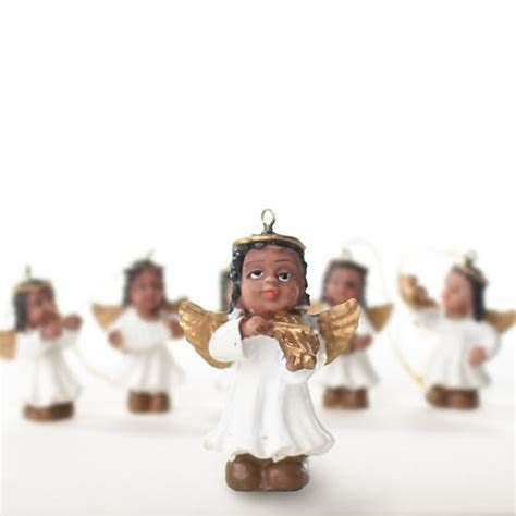 Miniature African American Angel Ornaments   Christmas